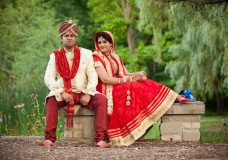 Hindu Wedding Photography of Prashant + Pratima at Rose Garden Banquet